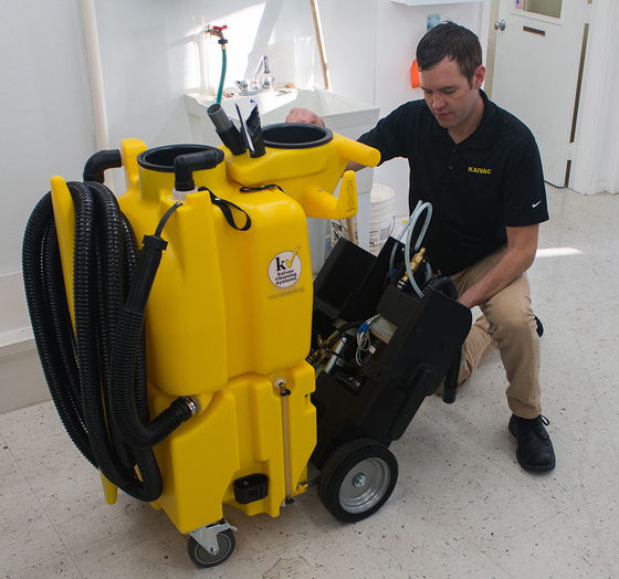 Maintaining a Kaivac 1750 No-Touch Cleaning system.