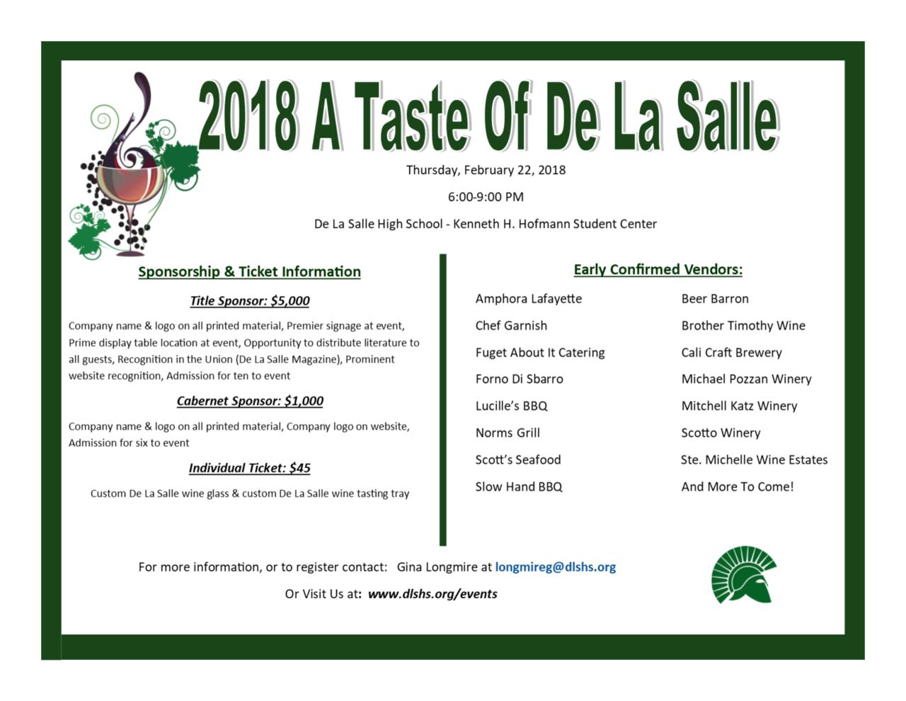 De La Salle High School - A Taste of De La Salle