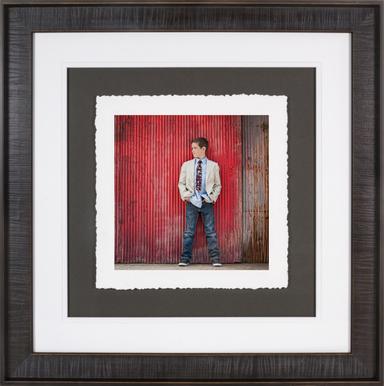 Handscraped Smokey Grey Fine Art Torn Edge Framed Print