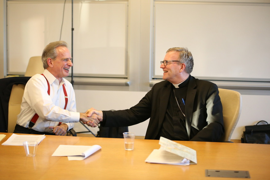Dr. Craig & Bishop Robert Barron in a special session with academics.