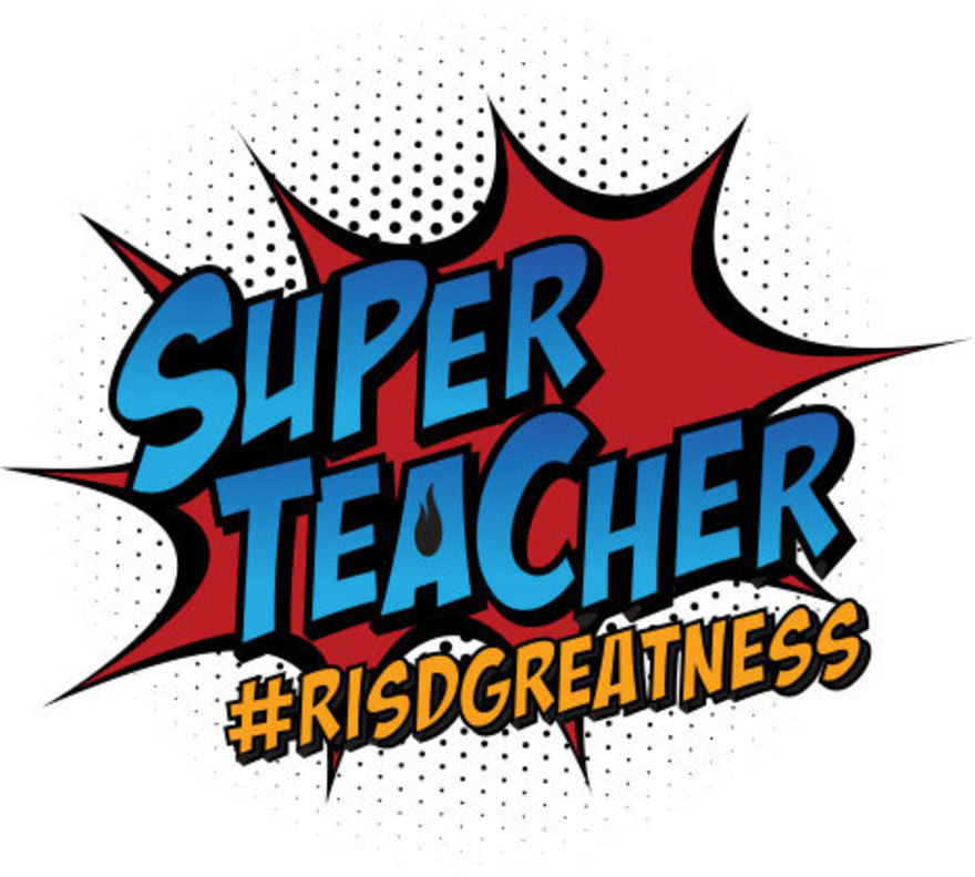 Super teacher logo and link to super teacher website - www.risd.org/superteacher