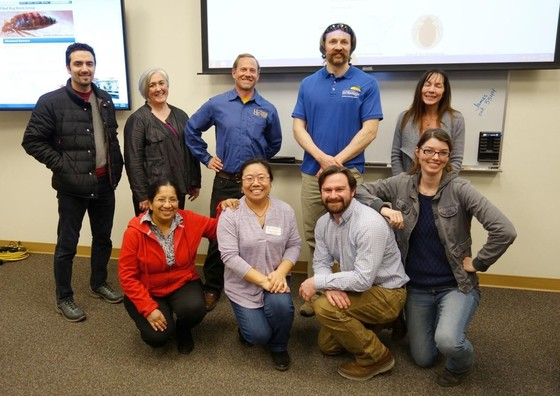 A group photo of the Western IPM Center Bed Bug Work Group, including Arizona Pest Management Center (APMC) members Dawn Gouge, Shaku Nair and Lucy Li from the University of Arizona.