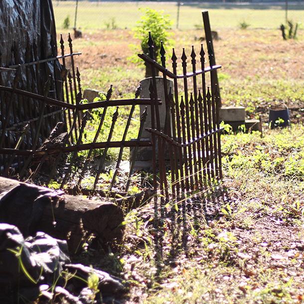 The Camptown Cemetery in Brenham, Texas.