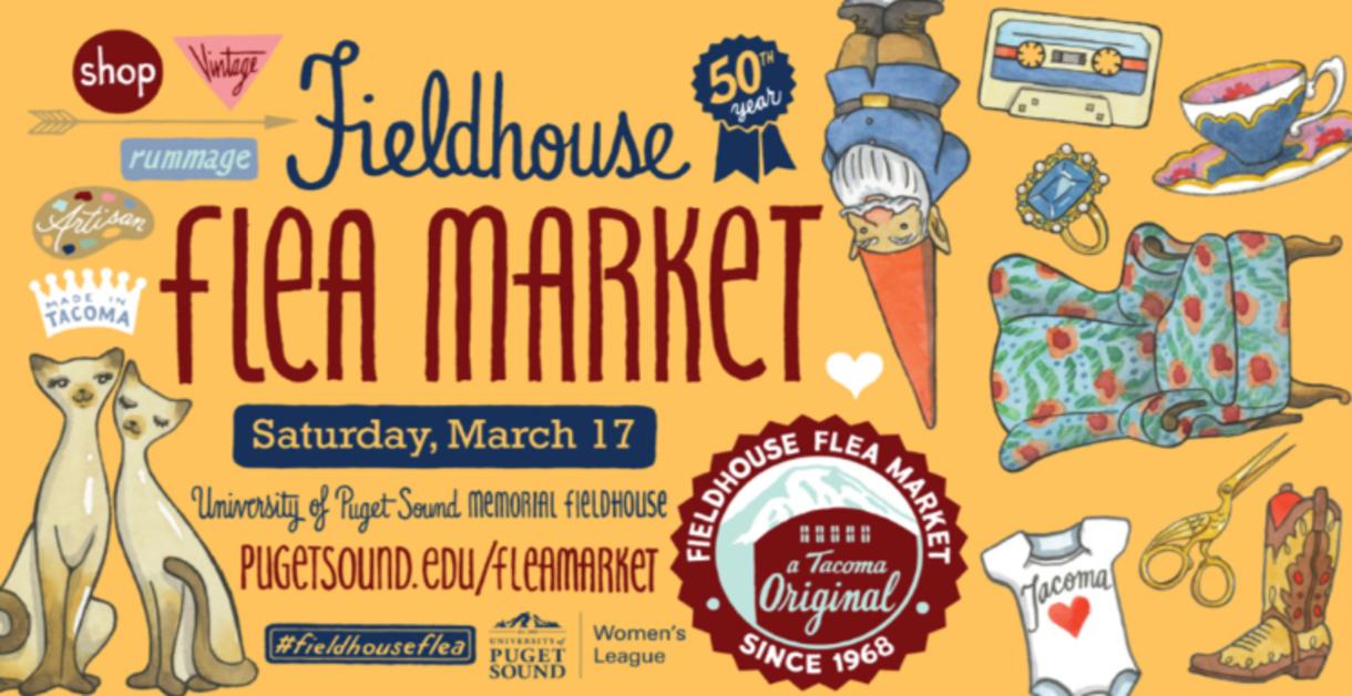 50th annual Fieldhouse Flea Market, this Saturday, March 17