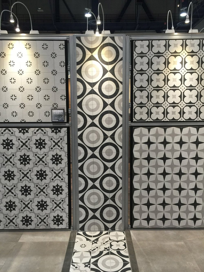 Patterned floors. Colorful ceramic tile, Porcelain tile from Arizona Tile at KBIS