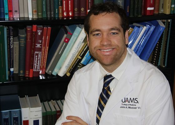 John Musser, a first-year medical student at UAMS, has lofty goals for a nonprofit he recently started.