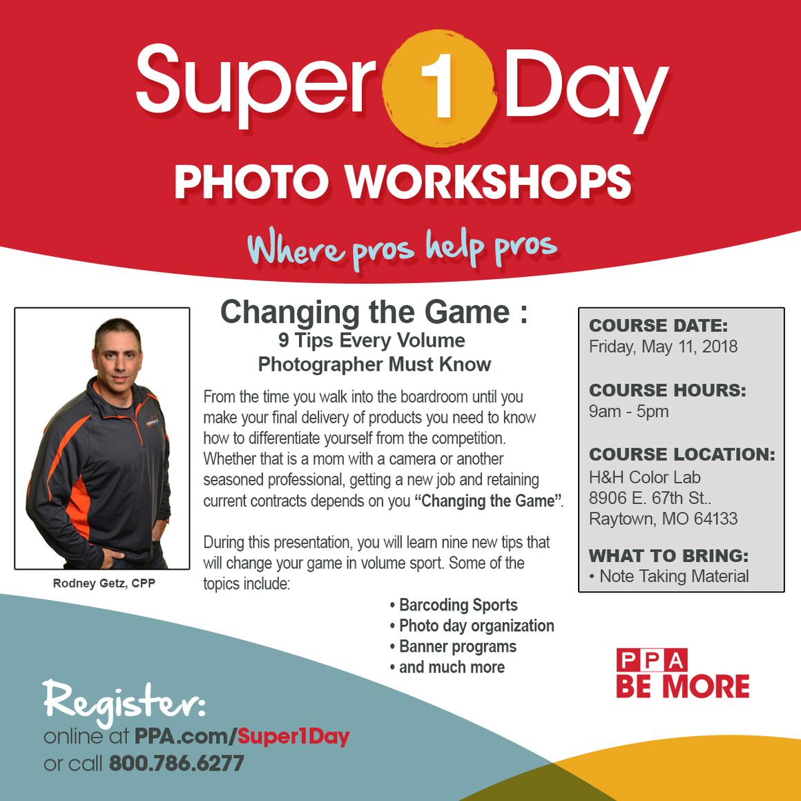 Rodney Getz Super 1 Day Workshop