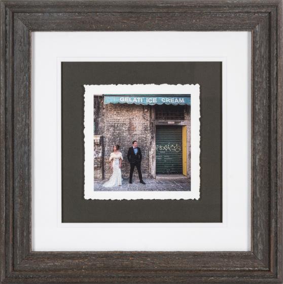 Barnwood Fine Art Torn Edge Framed Print