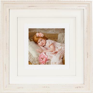 Shabby Chic Cream Fine Art Torn Edge Framed Print