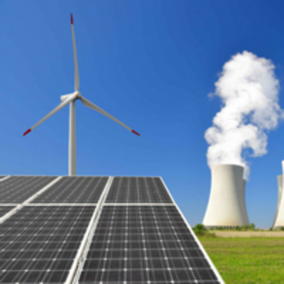 Solar panels, windmills, and nuclear stacks