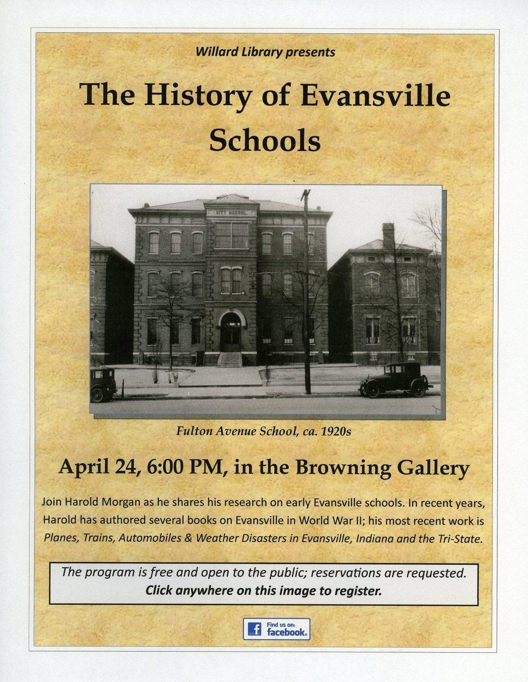 History of Evansville Schools program