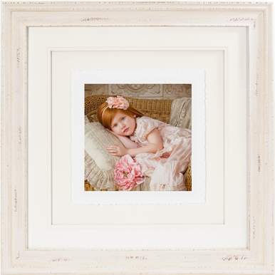 Shabby Chic Cream Fine Art Torn Edge Framed Print