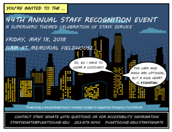 Staff Recognition Luncheon, May 18