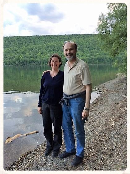 Sabine and Stephan Bielfeldt at Canadice Lake