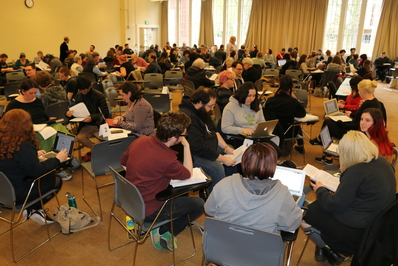 almost 100 students plus auditors attended