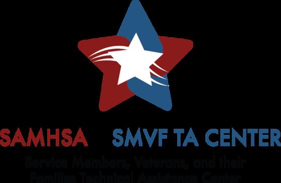 SAMHSA's SMVF TA Center logo