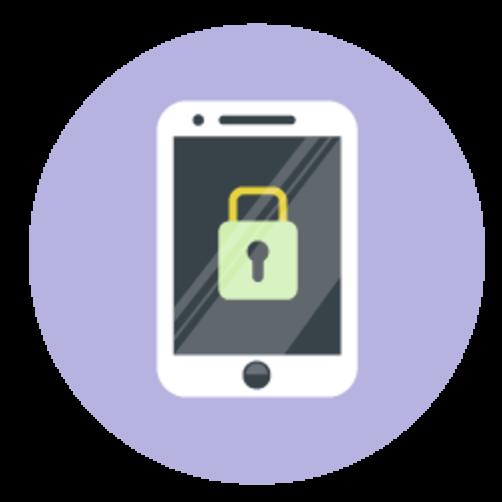 Illustration of locked mobile phone
