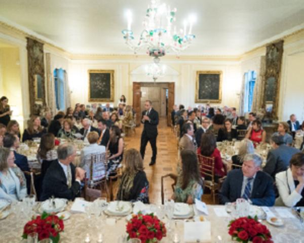 Photo: Italian Ambassador Varricchio welcomes the Meridian Global Leadership Council to Villa Firenze