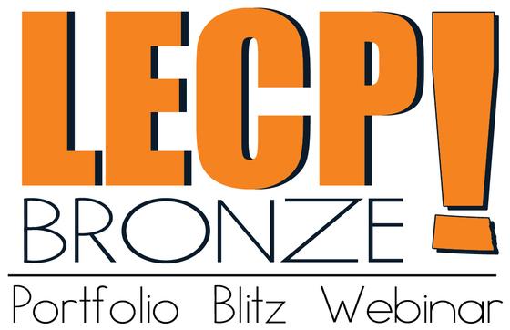 Logo and Link to LECP Bronze Portfolion Blitz Webinar