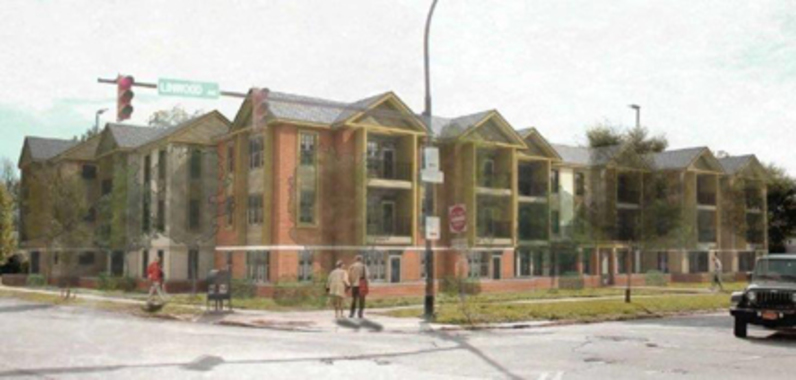 Rendering of the Linwood Lafayette apartments