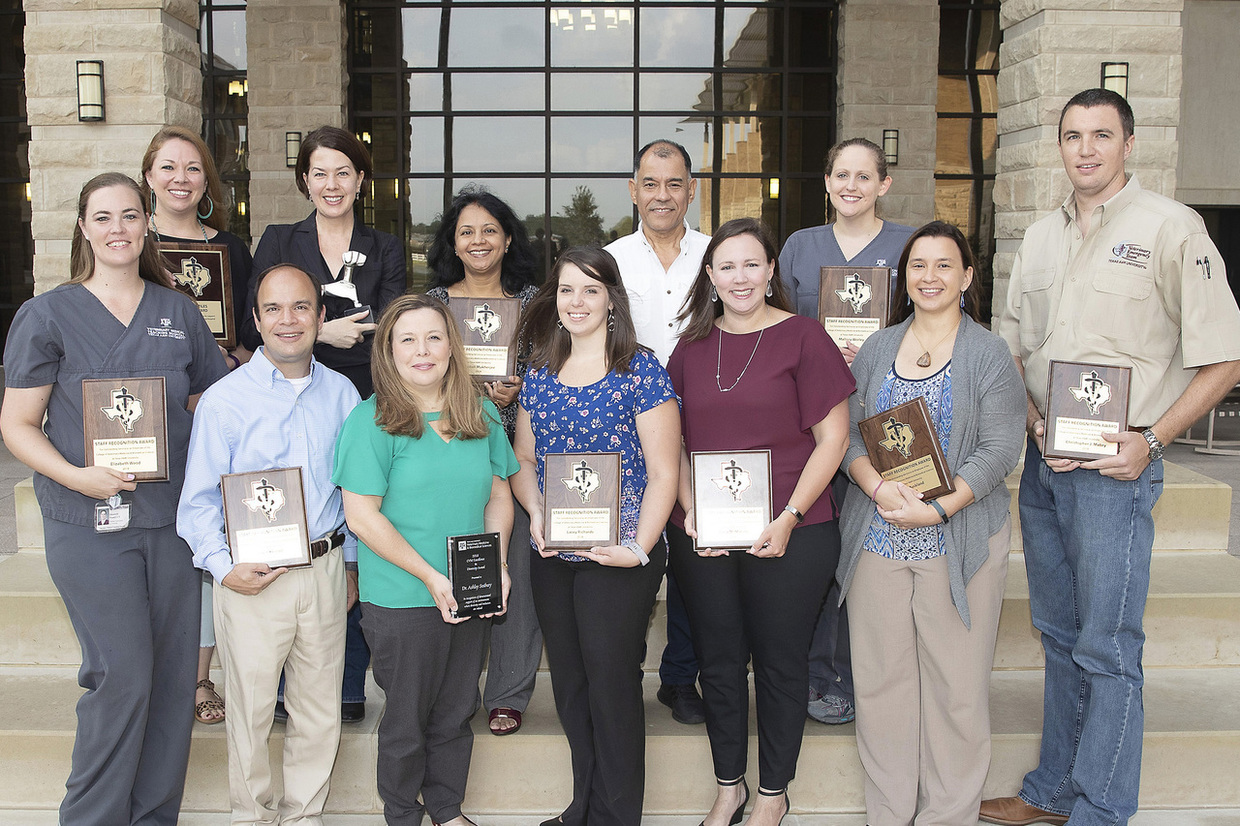 Staff recognition award recipients