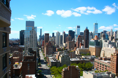 New York from Kingsley Condo 1st Ave Looking South by Peter Zoon