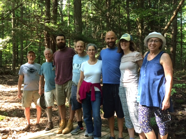Some of the hikers to the woods