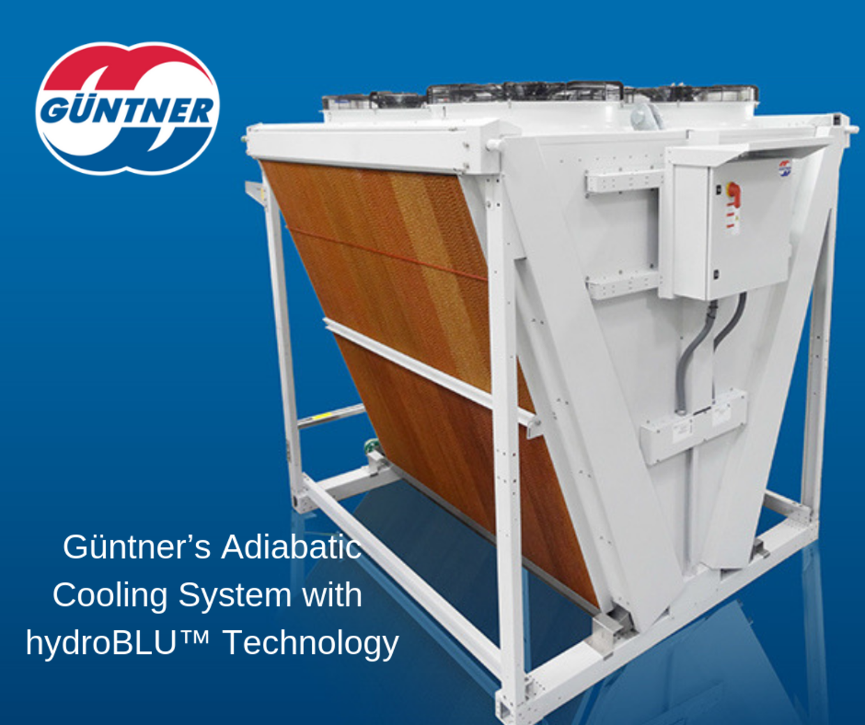 Güntner's Adiabatic Cooling System with hydroBLU™ Technology