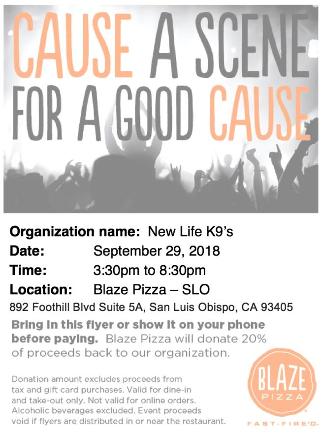 Blaze Fundraiser Flyer