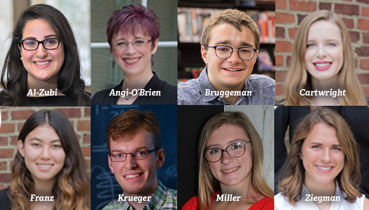 8 CAS students receive Provost Student Academic Achievement awards