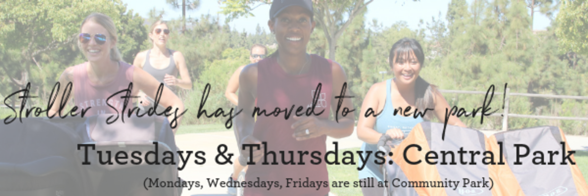 Stroller Strides on Tuesdays and Thursdays is now at Central Park!