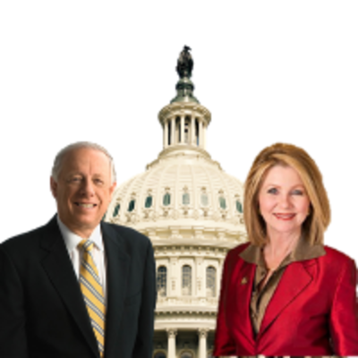 Blackburn and Bredesen in front of US Capitol
