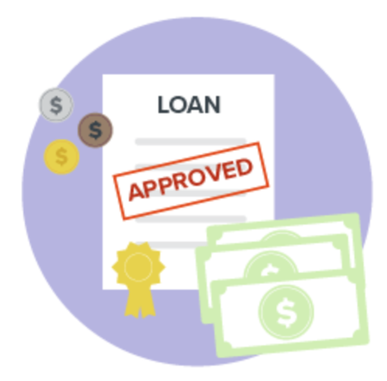 Illustration of loan approval document