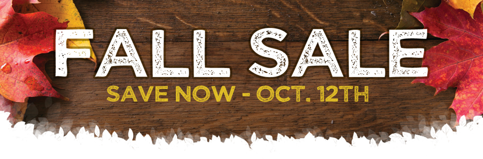 Fall Sale - Save NOW