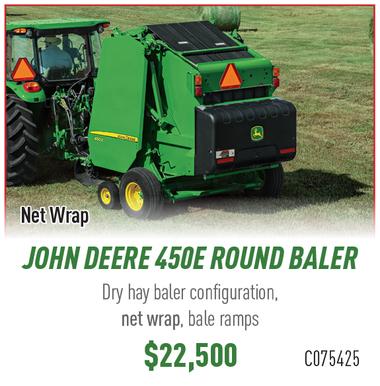John Deere 450E Rounder Baler - Net Wrap