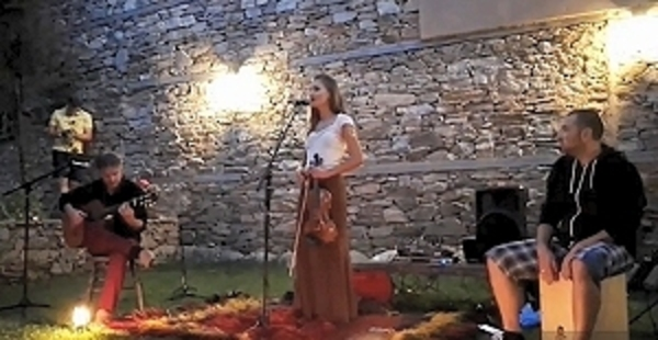 Bulgarian music concert in the mountain village of Kovachevitsa (Bulgaria)