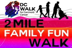 Logo for DC 2-mile family fun walk on Nov 10 2018