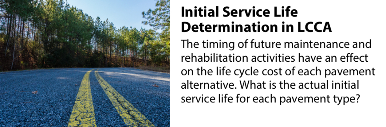 Initial Service Life Determination in LCCA