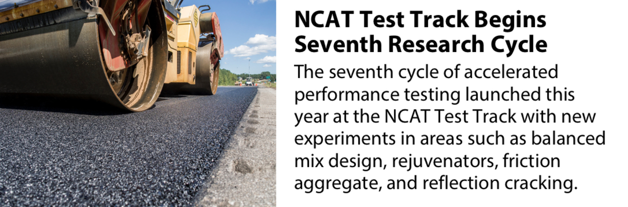 NCAT Test Track Begins Seventh Research Cycle
