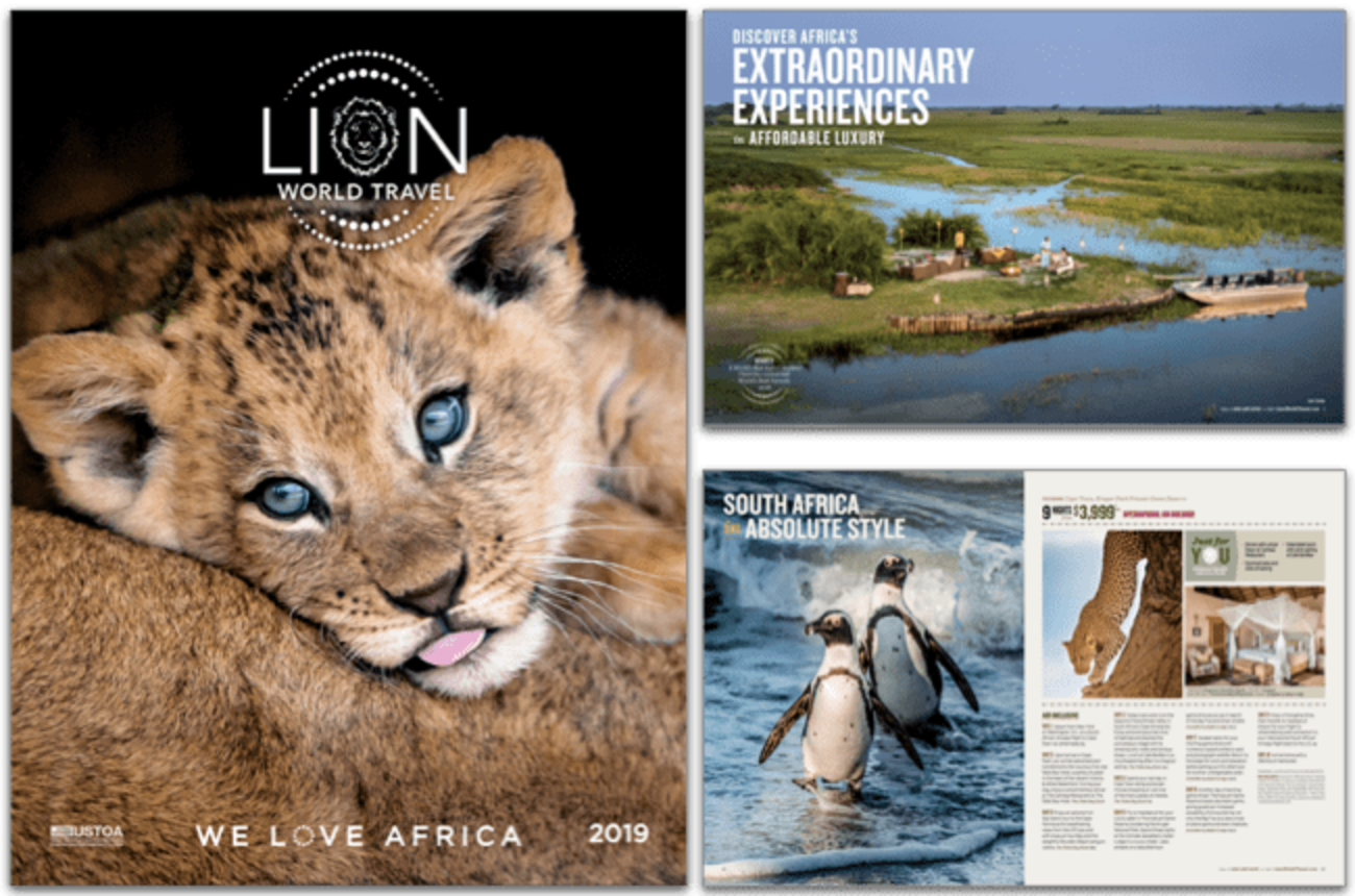 Get your 2019 Lion World Travel brochure today!