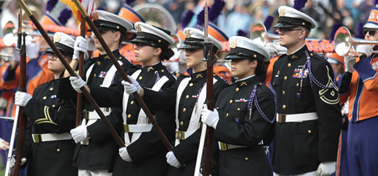 photo of ROTC at Clemson football game
