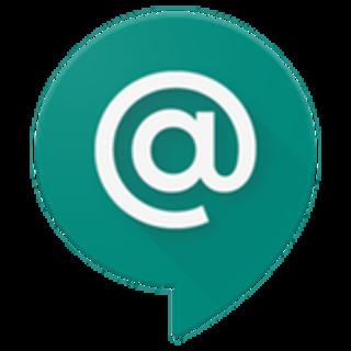 white @ symbol in a green speech bubble