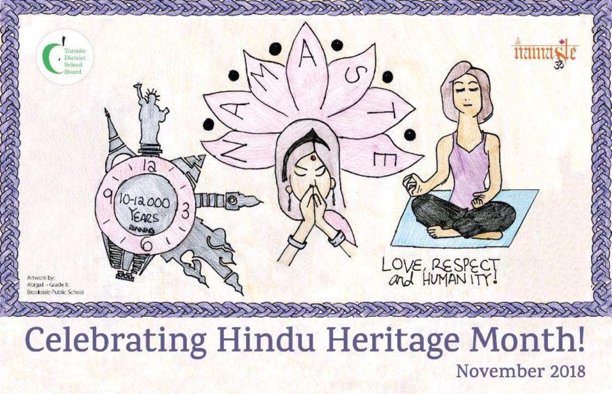 Hindu Heritage Month Poster 2018