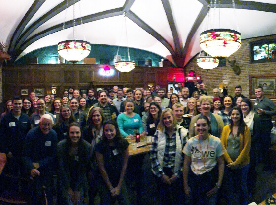 Many Michigan Tech alumni and friends at a social gathering in Minneapolis.
