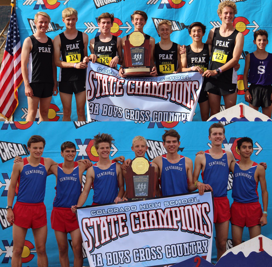 Peak to Peak and Centaurus High School teams claim the 3A and 4A Cross Country state titles, respectively