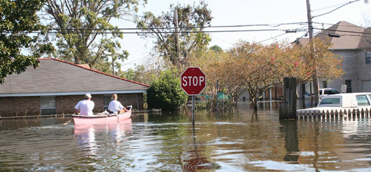 image of flooded neighborhood