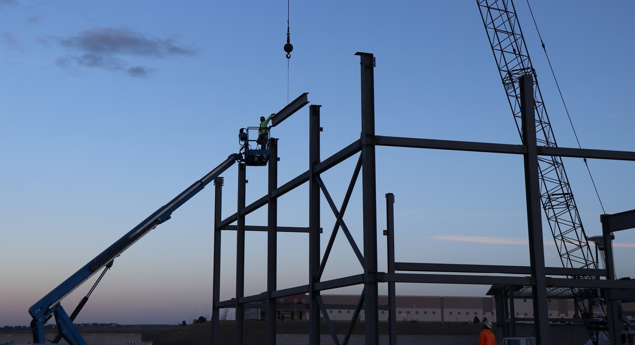 CCIC beam being placed
