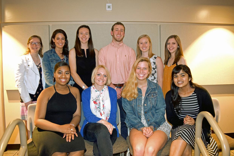 Undergraduate student award winners from spring 2018