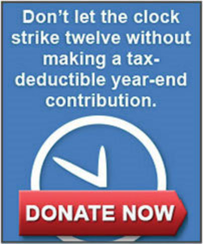 don't let the clock strick twelve with making a donation