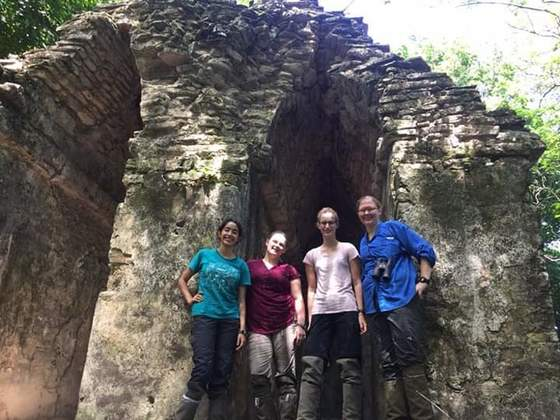 Nicole Schapker, Miami '18 (far right) and colleagues in the field at Palenque National Park, Chiapas, Mexico